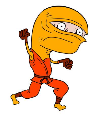 crouching: Funny ninja