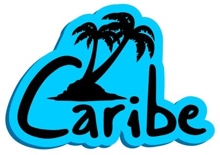 Caribe sticker Ilustração