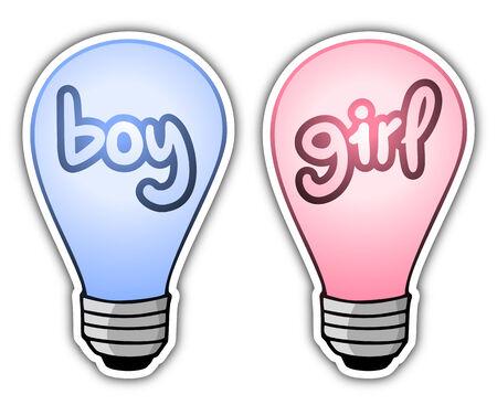 post teen: Boy and girl symbols design
