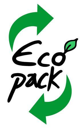 eco slogan: Eco s�mbolo paquete