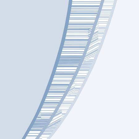 behang blauw: Creative blauw behang Stock Illustratie
