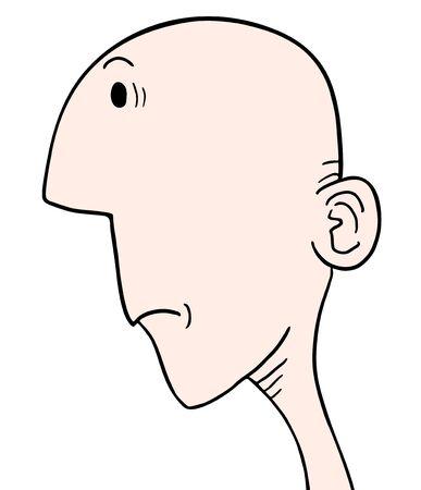 bald ugly: Ugly face Illustration