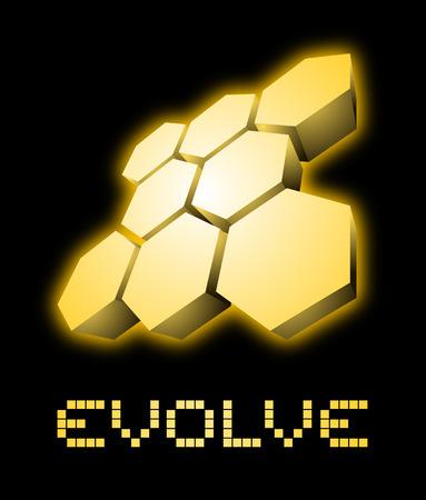 evolve: Evolve symbol Illustration