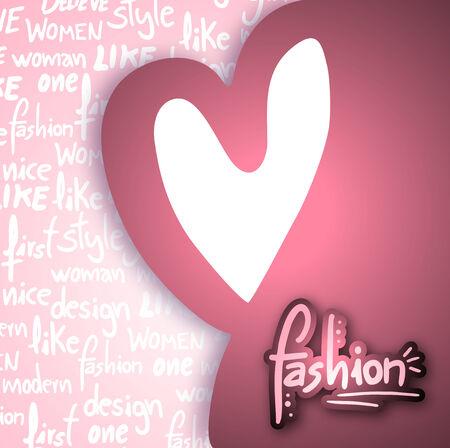 Fashion card Vector