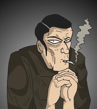 villain: Mystery man Illustration