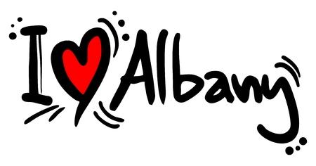 albany: I love Albany Illustration