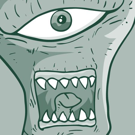 lowbrow: Mostro illustrazione