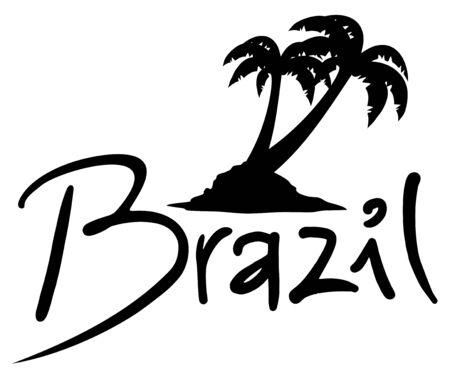 brazil beach: Brazil beach symbol