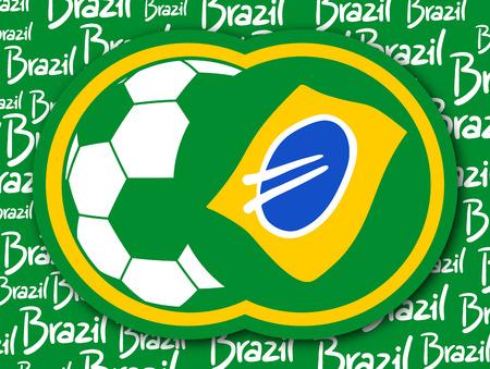 Brazil soccer icon
