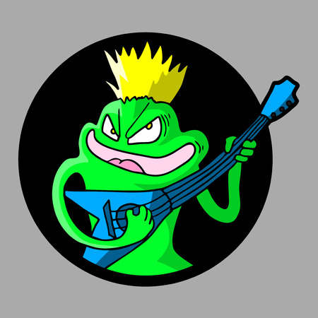 subversive: Smile guitar puppet