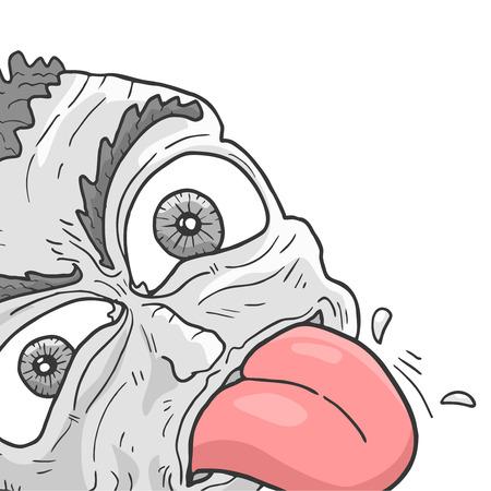 Crazy face Ilustração