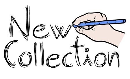 Nueva colección Aviso Ilustración de vector