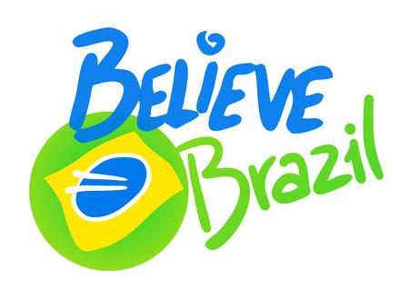 Believe Brazil symbol Ilustração