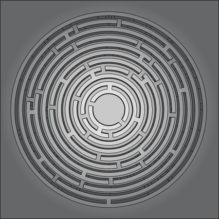 bustle: Creative circle symbol Illustration
