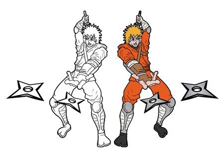 Ninja draw Vector