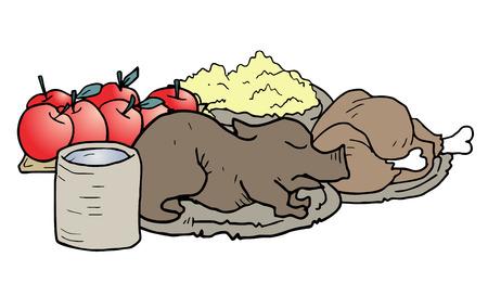 Food draw Illustration