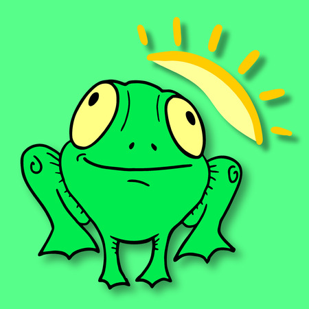 expesive: Funny frog Illustration