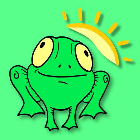 Funny frog Illustration