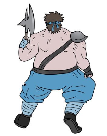 fat man: Hombre gordo Vectores