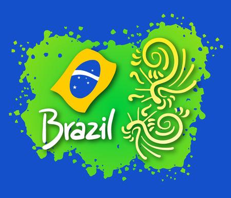 Imaginative Brazil symbol
