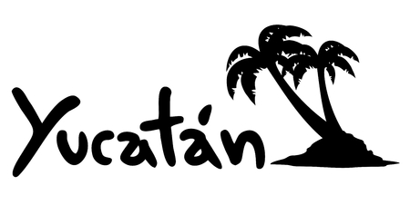 Yucatan beach 向量圖像