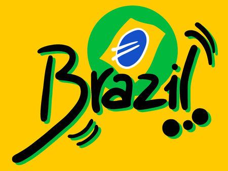 Brazil sign Vector