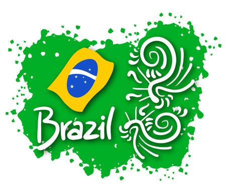 Art brazil symbol Vector