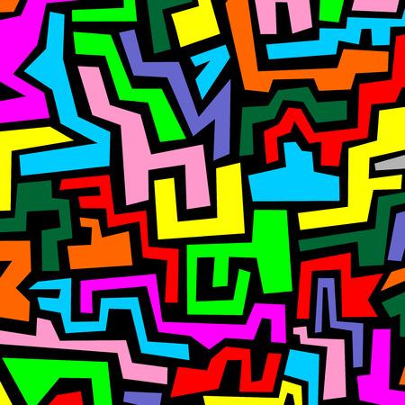 original single: Color mosaic Illustration