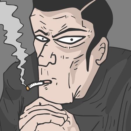 lowbrow: Mystery man smoking