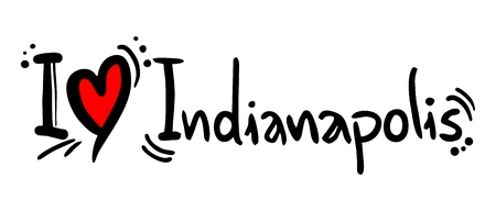 indianapolis: Indianapolis love Illustration