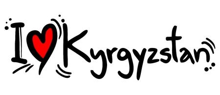 kyrgyzstan: Kyrgyzstan lvoe Illustration