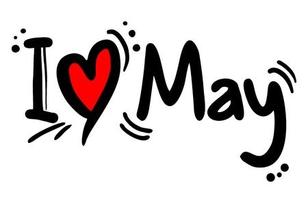 crave: I love May Illustration