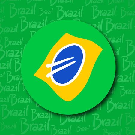 Brazil circle symbol Ilustração