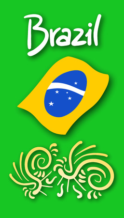 Brazil card design Vector
