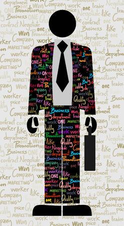 elegant business man: Uomo elegante di affari