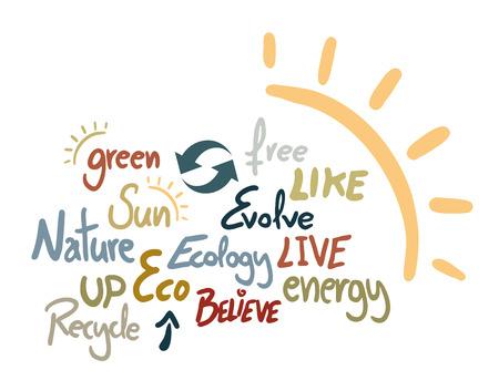 Ecology art symbol