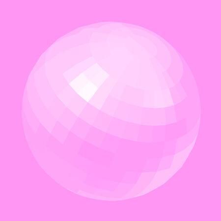 indeed: Pink globe vector design