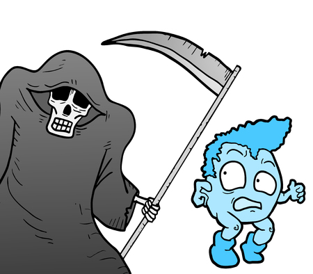 cowardice: Halloween funny draw