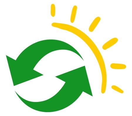 heat register: Sun recycle icon Illustration