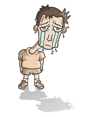 mourn: Sad child Illustration