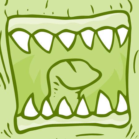 monster face: Monster face draw Illustration