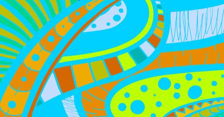 original single: Creative color card Illustration