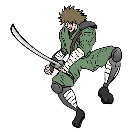 crouching: Samurai attack draw