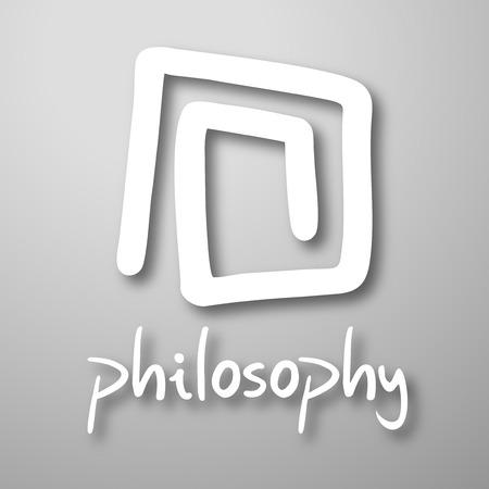 Philosophy abstract emblem 向量圖像