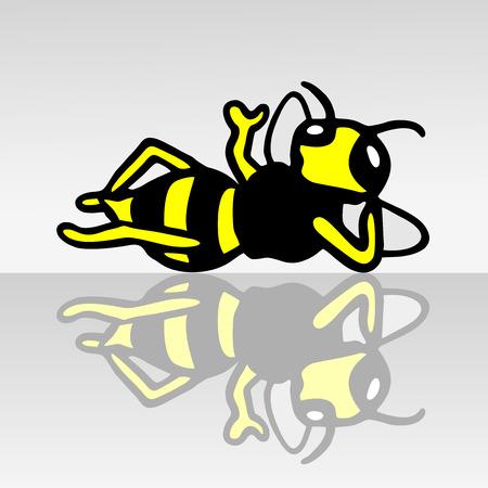 Small wasp Vectores