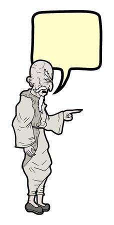 Comic talking man