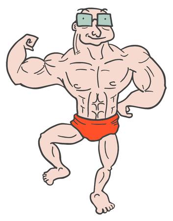 brawny: Strong old man
