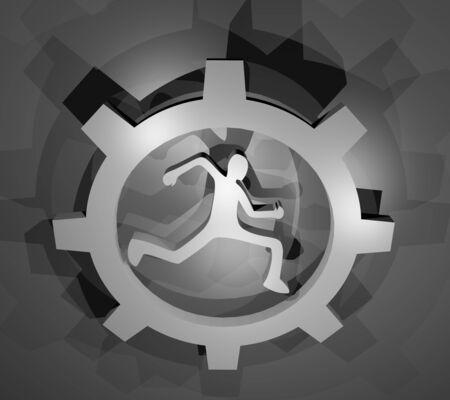 exerted: Sport tech render symbol