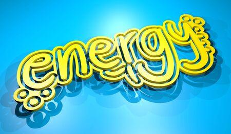 Energy render message photo