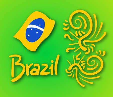 Brazil art symbol Vector